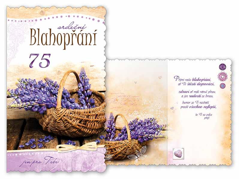 blahopřání k 75 narozeninám Přání k narozeninám 75 M11 417 H | MFP paper s.r.o. blahopřání k 75 narozeninám