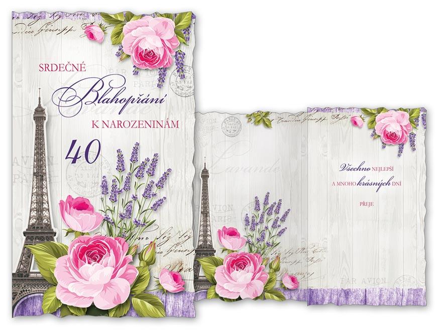 MFP přání k narozeninám 40 M11-434 H