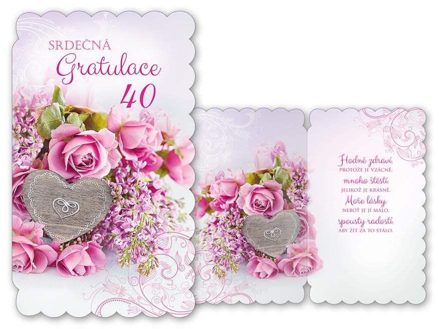 MFP přání k narozeninám 40 M11-435 H