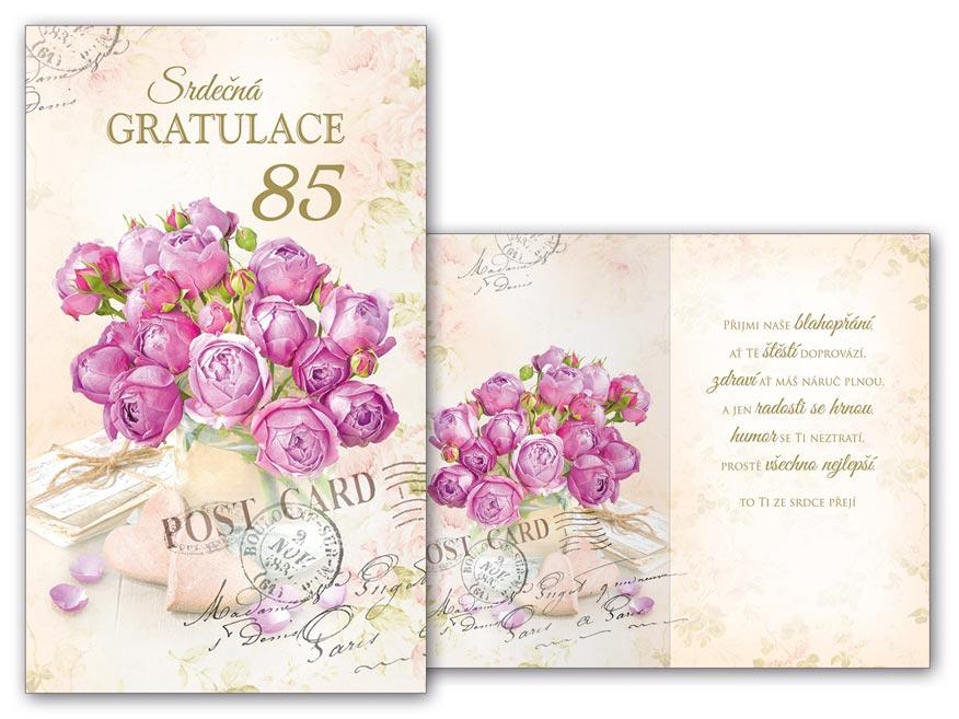 přání k 85 narozeninám Přání k narozeninám 85 M11 448 H | MFP paper s.r.o. přání k 85 narozeninám