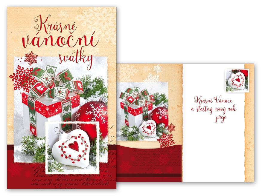 Přání Vánoční V24-386 H na peníze