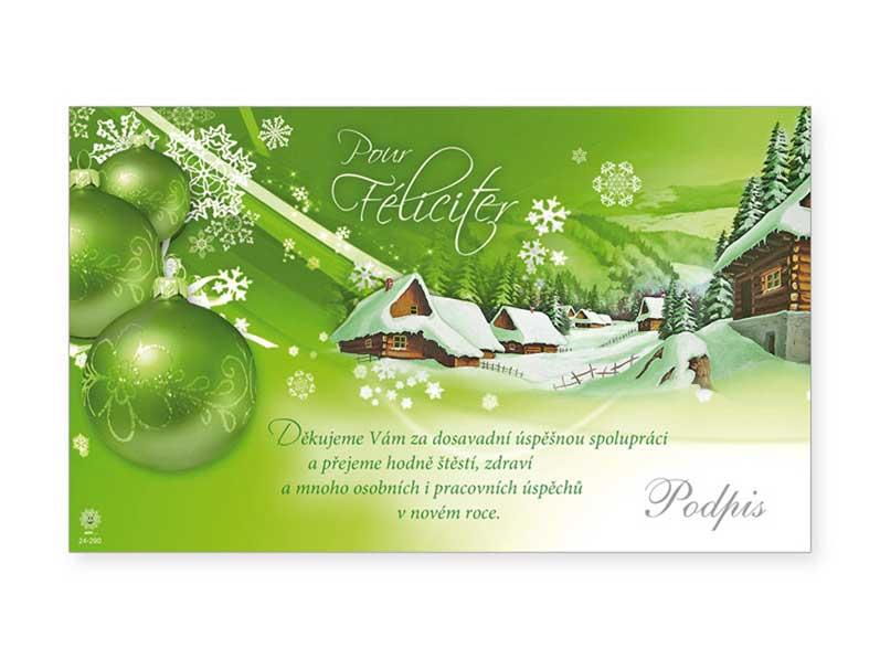 Přání novoroční, PF V24-290 K
