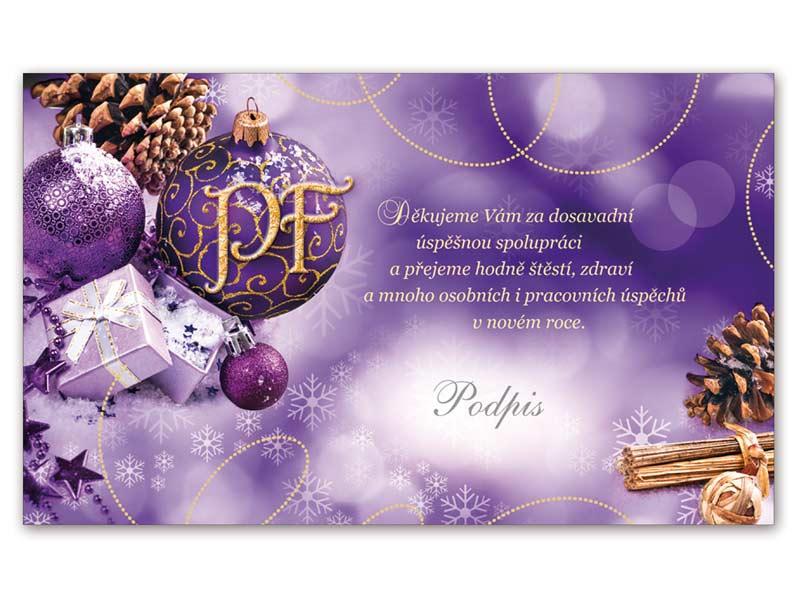 Přání novoroční, PF V24-293 K