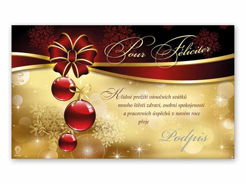 Přání novoroční, PF V24-342 K