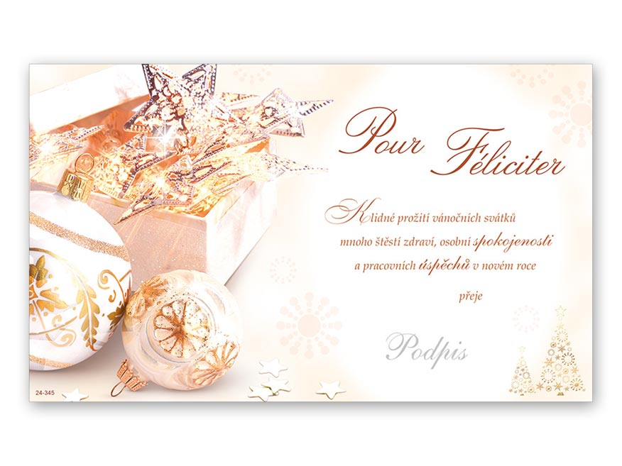 Přání novoroční, PF V24-345 K
