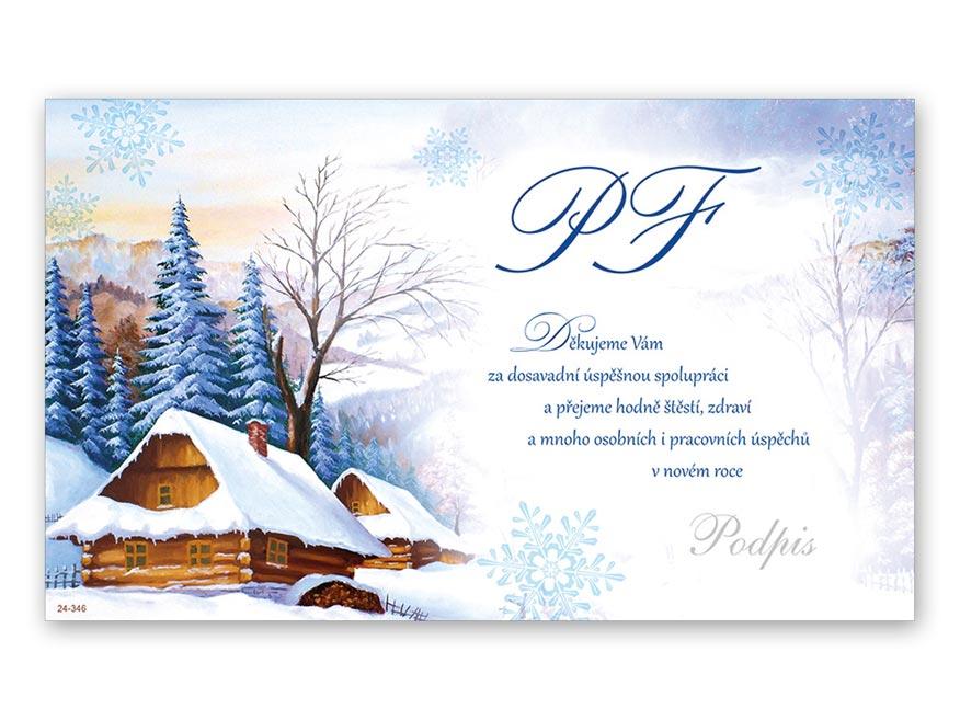 Přání novoroční, PF V24-346 K