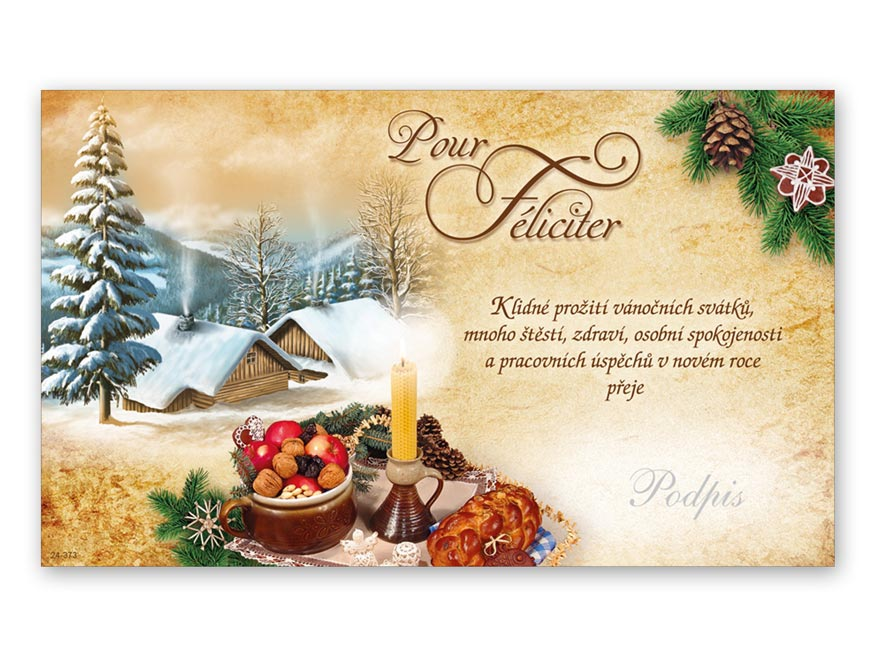 Přání novoroční, PF V24-373 K
