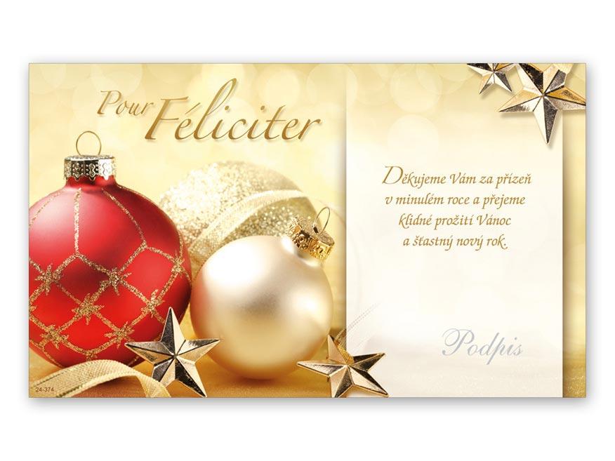 Přání novoroční, PF V24-374 K