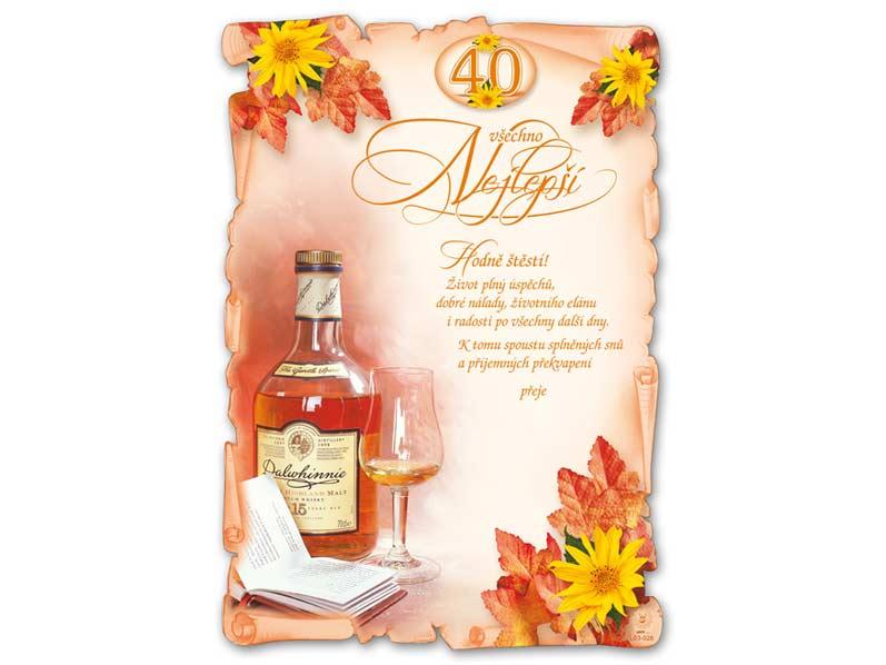 MFP přání k narozeninám A4 M03-028 (40) (S) L
