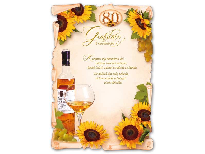 přání k narozeninám 80 Přání k narozeninám A4 M03 030 (80) (S) L | MFP paper s.r.o. přání k narozeninám 80