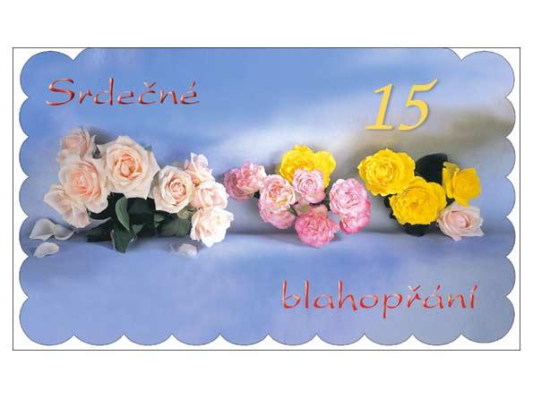 MFP přání k narozeninám 15 M11-026 O