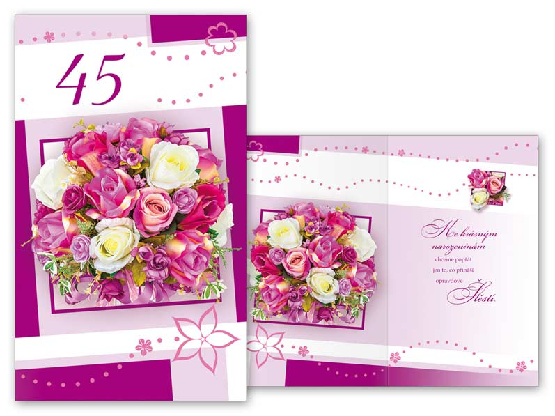 přání k narozeninám 45 Přání k narozeninám 45 M11 373 T   MFP paper s.r.o. přání k narozeninám 45
