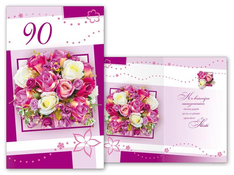 blahopřání k 90 narozeninám Přání k narozeninám 90 M11 373 T | MFP paper s.r.o. blahopřání k 90 narozeninám