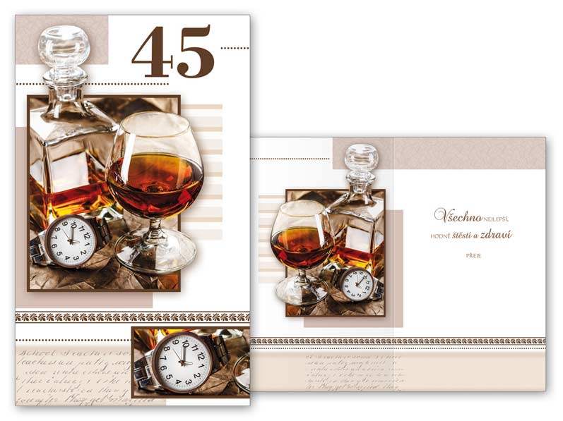 přání k 45 narozeninám Přání k narozeninám 45 M11 374 T | MFP paper s.r.o. přání k 45 narozeninám