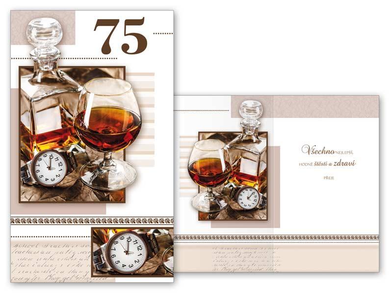 blahopřání k 75 narozeninám Přání k narozeninám 75 M11 374 T | MFP paper s.r.o. blahopřání k 75 narozeninám