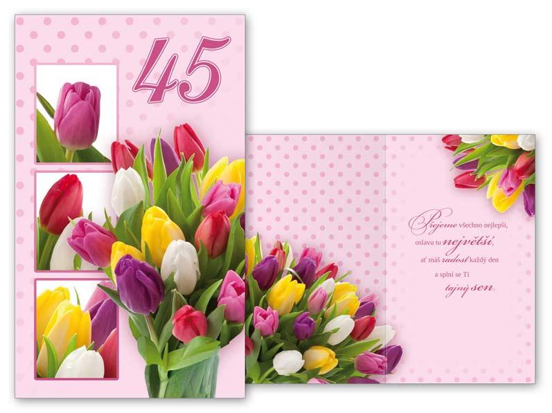 přání k 45 narozeninám Přání k narozeninám 45 M11 375 T | MFP paper s.r.o. přání k 45 narozeninám