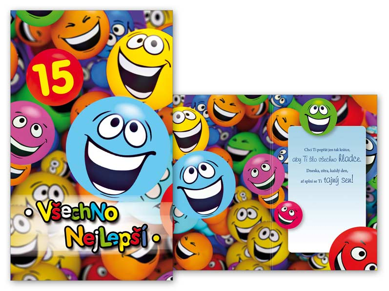 přání k patnáctým narozeninám Přání k narozeninám 15 M11 377 T | MFP paper s.r.o. přání k patnáctým narozeninám