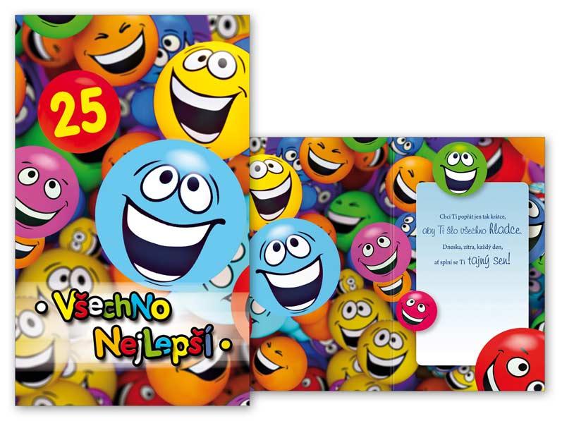 blahopřání k 25 narozeninám Přání k narozeninám 25 M11 377 T | MFP paper s.r.o. blahopřání k 25 narozeninám
