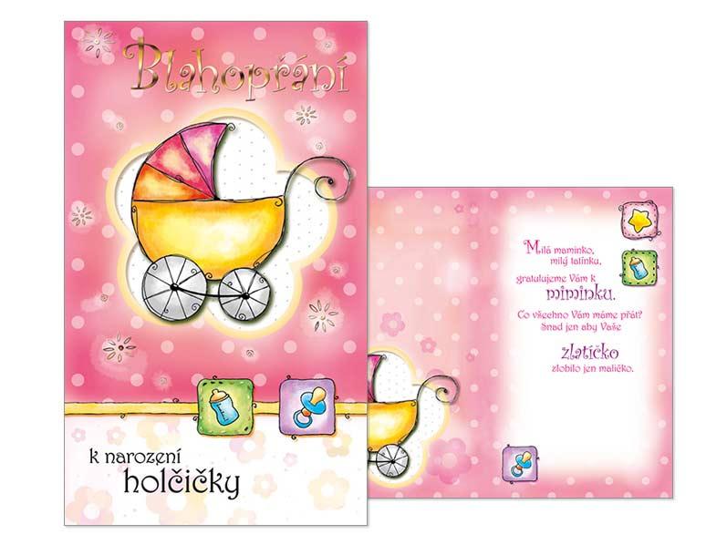 Přání k narození miminka M07-051 T
