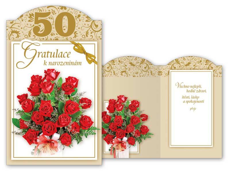 blahopřání k narozeninám 50 Přání k narozeninám 50 M11 385 T | MFP paper s.r.o. blahopřání k narozeninám 50