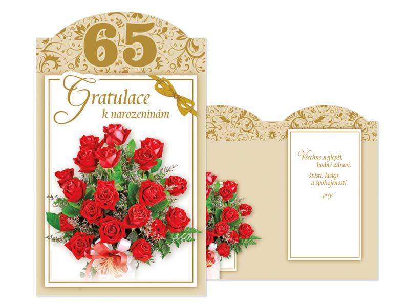 blahopřání k 65 narozeninám Přání k narozeninám 65 M11 385 T | MFP paper s.r.o. blahopřání k 65 narozeninám