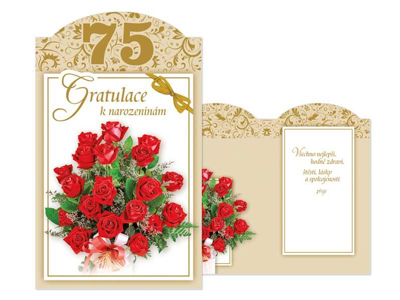 blahopřání k 75 narozeninám Přání k narozeninám 75 M11 385 T | MFP paper s.r.o. blahopřání k 75 narozeninám