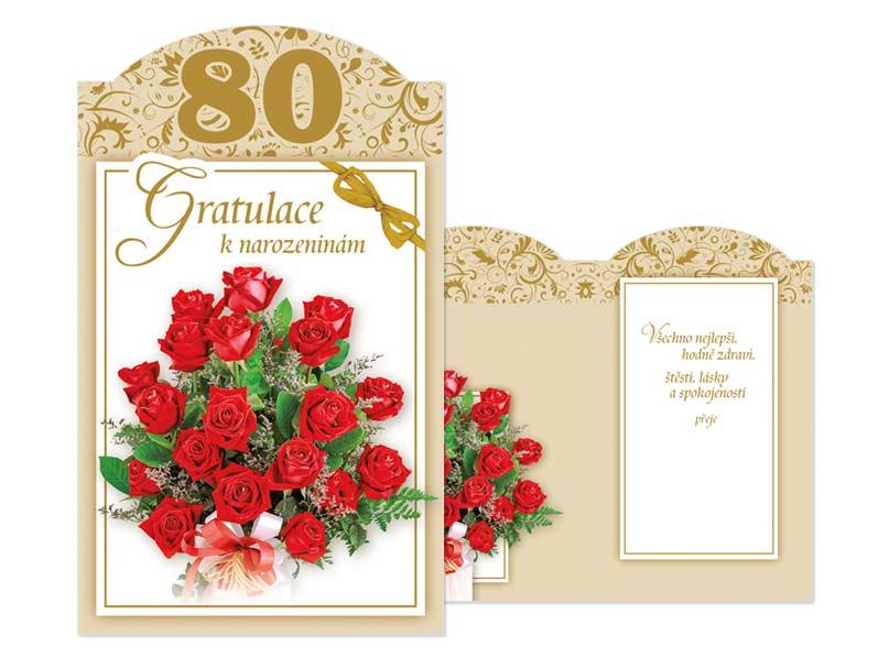 blahopřání k 80 narozeninám texty Přání k narozeninám 80 M11 385 T | MFP paper s.r.o. blahopřání k 80 narozeninám texty