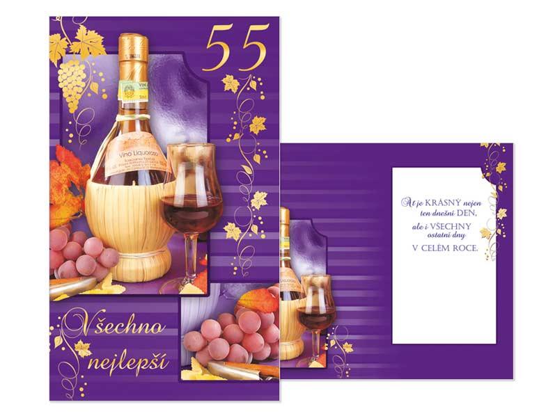 přání k 55 narozeninám texty Přání k narozeninám 55 M11 386 T | MFP paper s.r.o. přání k 55 narozeninám texty