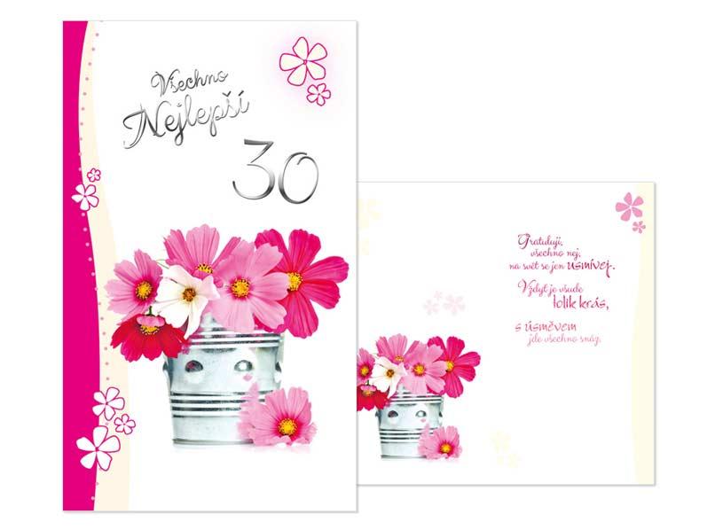 přání k 30 narozeninám text Přání k narozeninám 30 M11 387 T | MFP paper s.r.o. přání k 30 narozeninám text