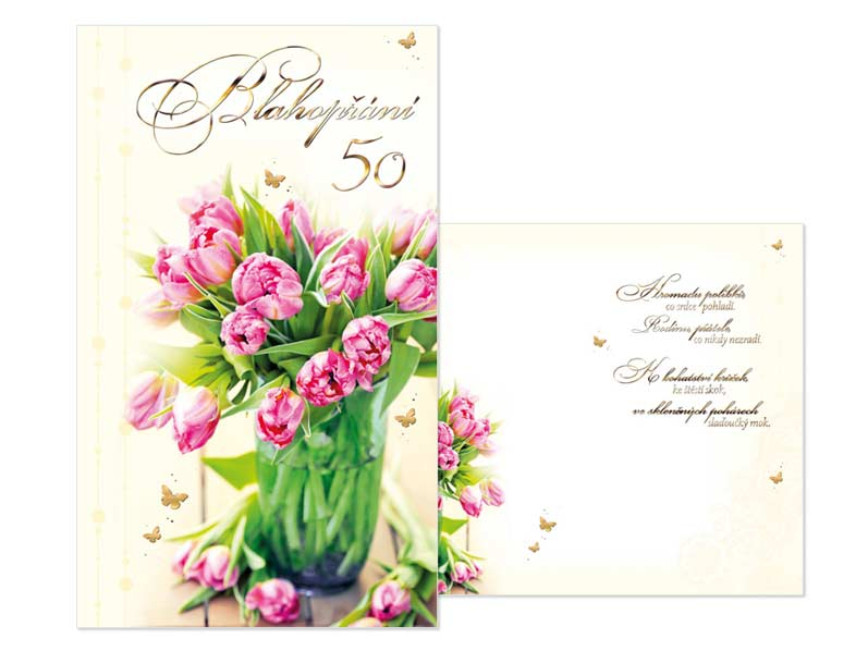 MFP přání k narozeninám 50 M11-388 T