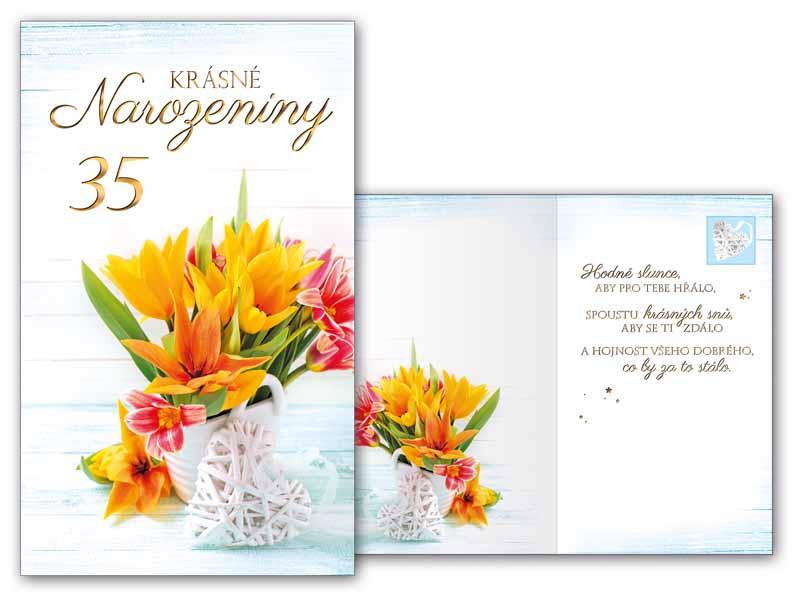 přání k 35 narozeninám Přání k narozeninám 35 M11 415 T   PeMi přání k 35 narozeninám
