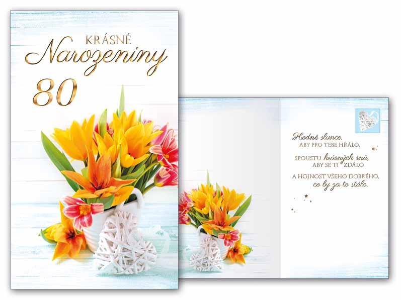 blahopřání k 80 narozeninám texty Přání k narozeninám 80 M11 415 T | MFP paper s.r.o. blahopřání k 80 narozeninám texty