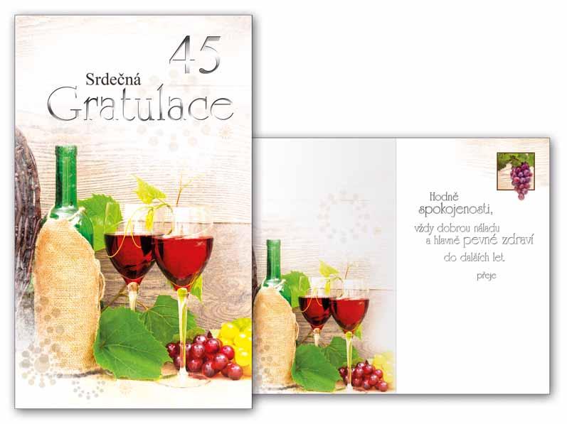 přání k narozeninám 45 Přání k narozeninám 45 M11 416 T   PeMi přání k narozeninám 45
