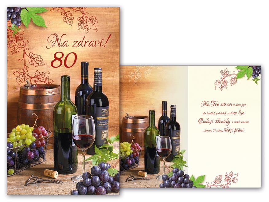 MFP přání k narozeninám 80 M11-440 T