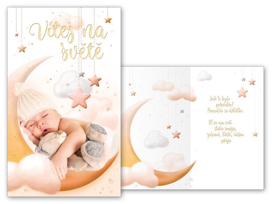Přání k narození miminka M07-055 T