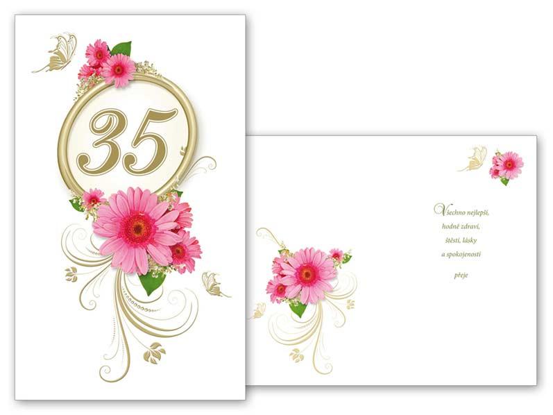 MFP přání k narozeninám 35 M11-345 T