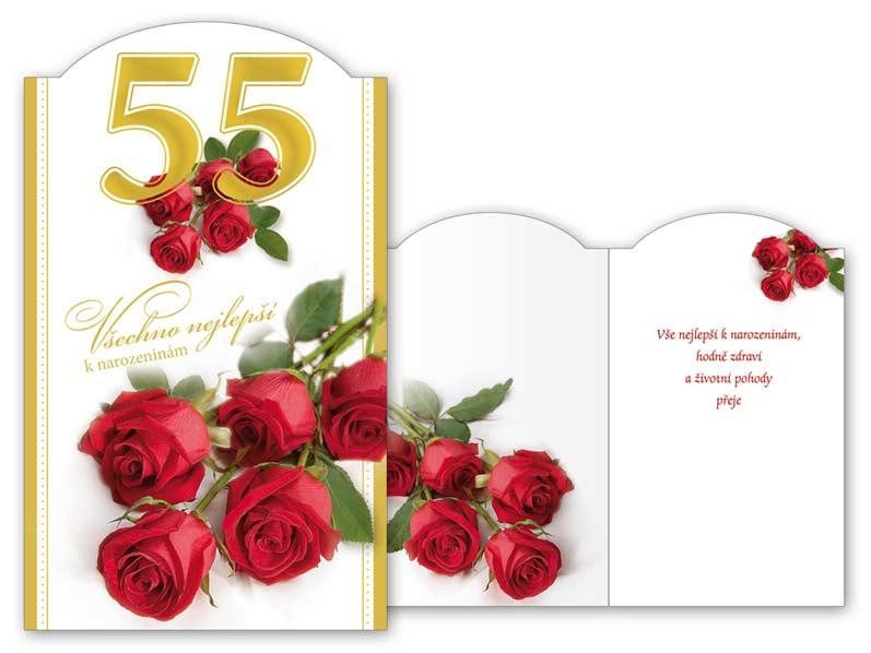 přání k 55 narozeninám texty Přání k narozeninám 55 M11 346 T | MFP paper s.r.o. přání k 55 narozeninám texty