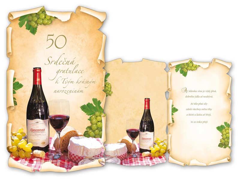 blahopřání k narozeninám 50 Přání k narozeninám 50 M11 351 T | MFP paper s.r.o. blahopřání k narozeninám 50
