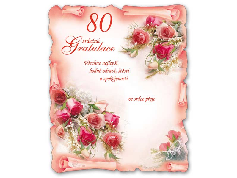 blahopřání k 80 narozeninám texty Přání k narozeninám 80 M11 356 T | MFP paper s.r.o. blahopřání k 80 narozeninám texty