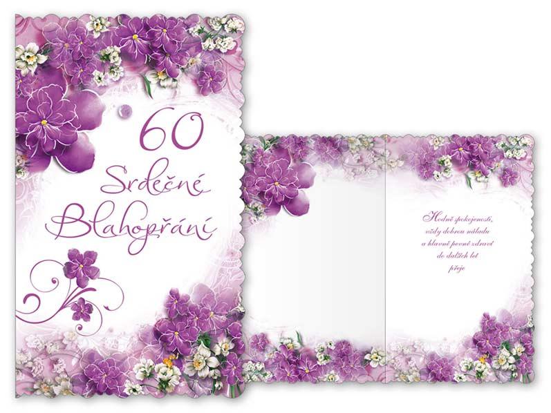 srdečné přání k narozeninám Přání k narozeninám 60 M11 359 T | PeMi srdečné přání k narozeninám