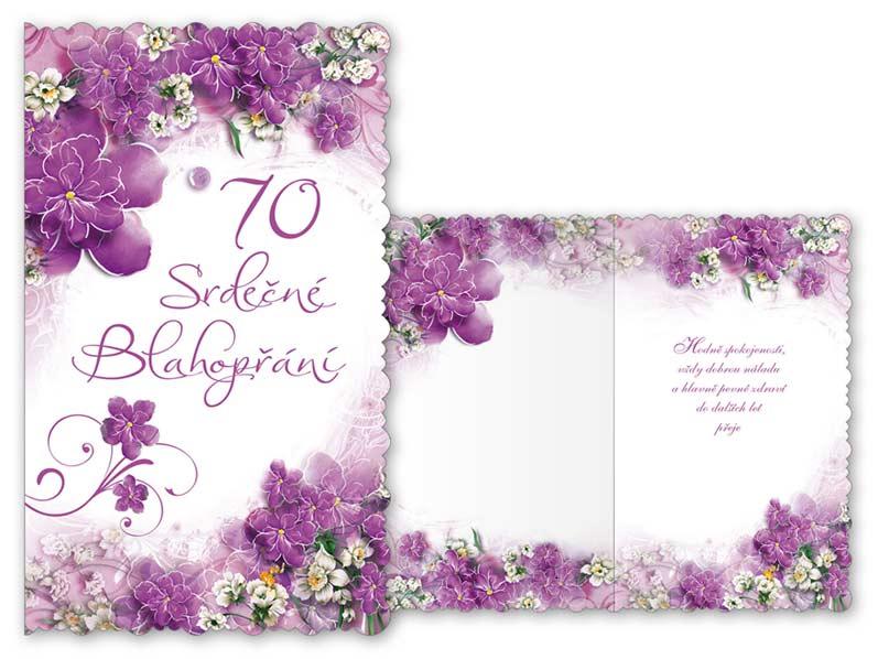 blahopřání k narozeninám 70 let Přání k narozeninám 70 M11 359 T | MFP paper s.r.o. blahopřání k narozeninám 70 let