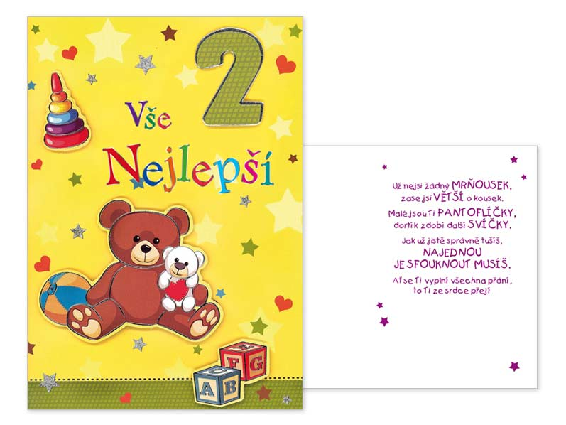 přání k 2 narozeninám Přání k narozeninám 02 CN 337 | MFP paper s.r.o. přání k 2 narozeninám