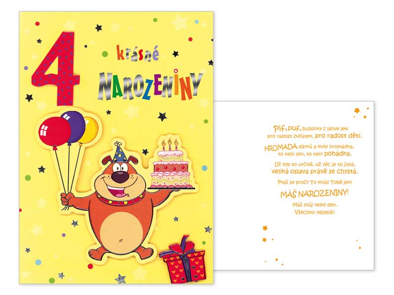 přání k narozeninám dětské Přání k narozeninám 04 CN 339 | PeMi přání k narozeninám dětské