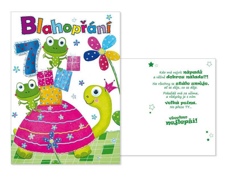 dětské přání k narozeninám Přání k narozeninám 07 CN 367 | MFP paper s.r.o. dětské přání k narozeninám