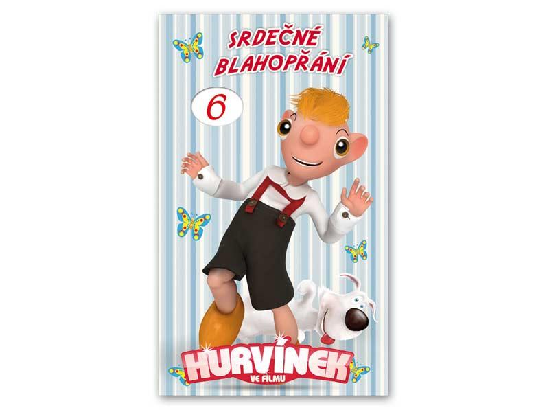 MFP přání k narozeninám otočné, dětské M33-029 W Hurvínek