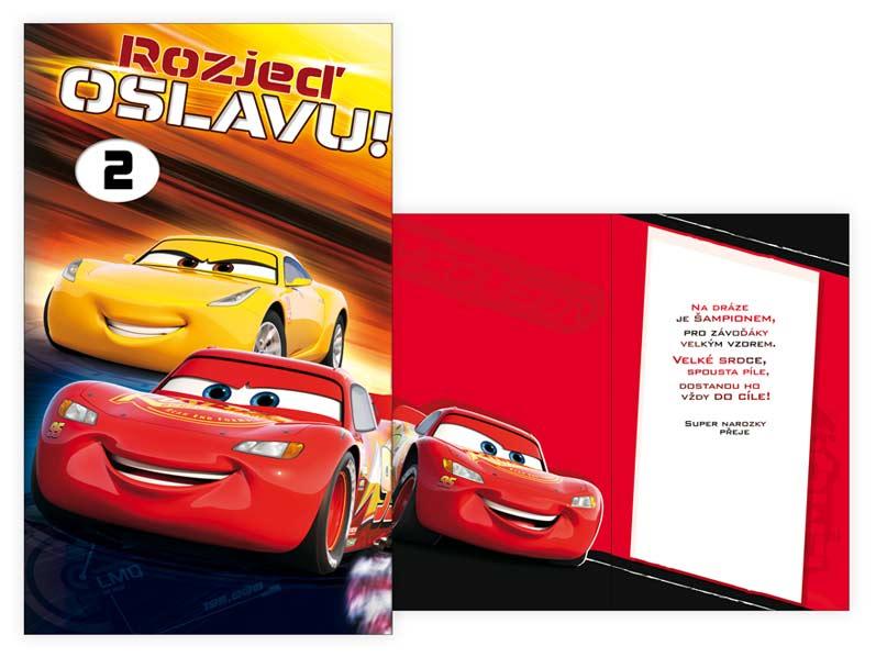 přání k narozeninám dítěti Přání k narozeninám otočné, dětské M33 079 W Disney (Cars) | MFP  přání k narozeninám dítěti