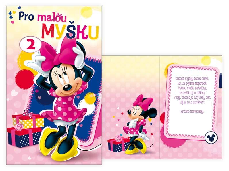 přání k narozeninám pro holčičku Přání k narozeninám otočné, dětské M33 080 W Disney (Minnie) | PeMi přání k narozeninám pro holčičku