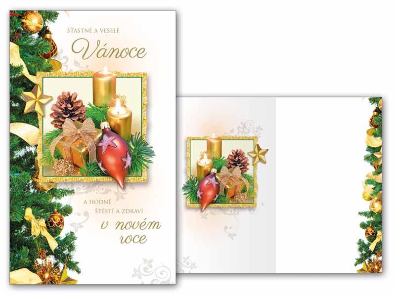 Přání Vánoční malé V23-100 Z