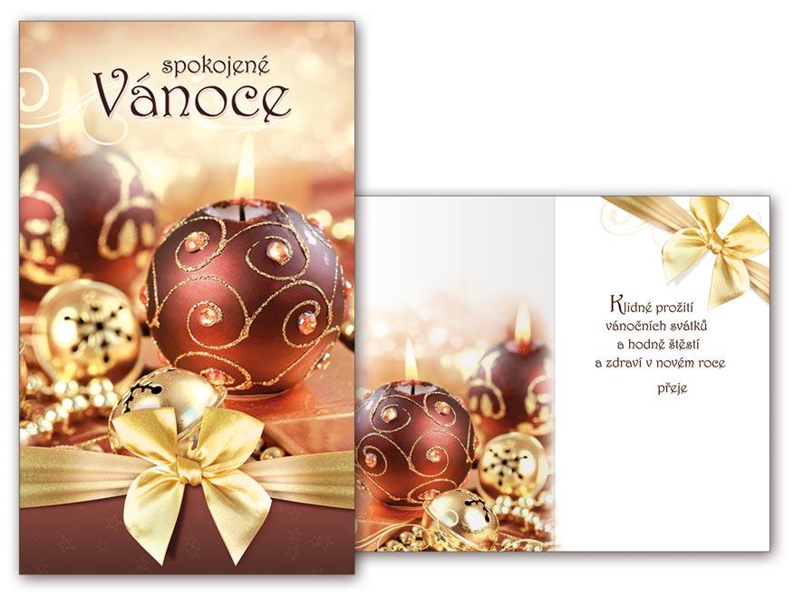 Přání Vánoční malé V23-110 Z