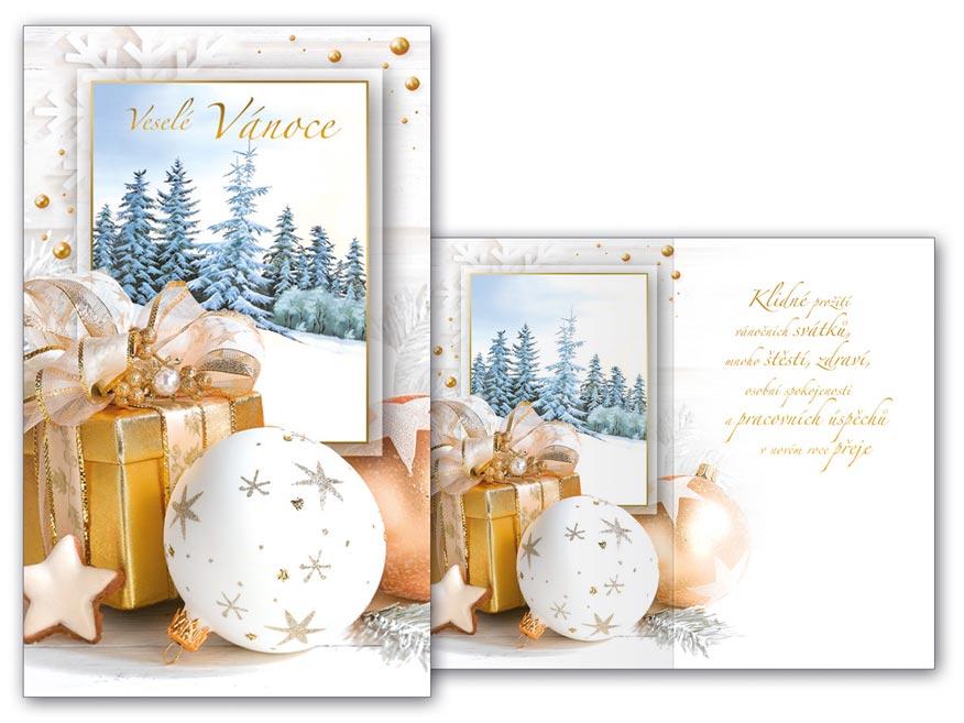 Přání Vánoční malé V23-117 Z